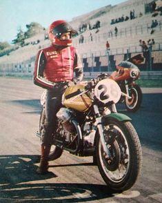Vallelunga 500 km Pilot Abbondio Sciaresa Moto Guzzi 750 V7 Sport #vallelunga500 #vallelunga #abbondioscisrese #motoguzzi…