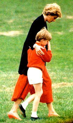 Diana comforting William