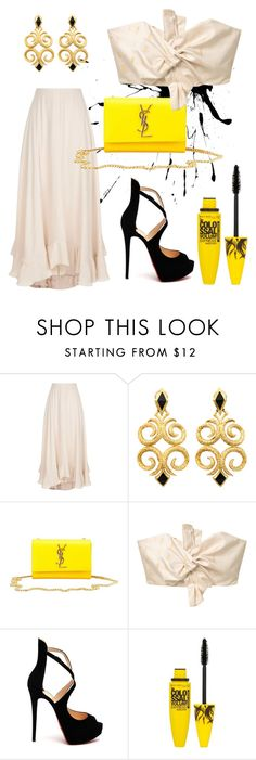 """""""Untitled #39"""" by gelihhh ❤ liked on Polyvore featuring Chloé, Yves Saint Laurent, MANGO, Christian Louboutin and Maybelline"""
