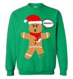 Ugly Christmas Sweater - Gingerbread Man Seriously? The design is digitally printed on the sweater. Sizing Chart Please take a look at the sizing chart below: S M L XL 2XL 3XL Length 26 27 28 29 30 31