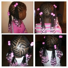 Braids with beads ...... little girl hairstyles