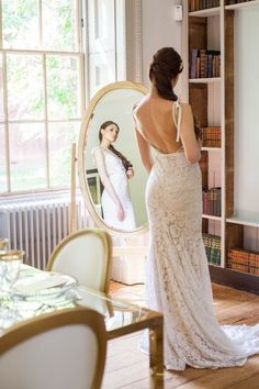The intricate Inbal Dror couture dress from Morgan Davies Bridal shows the elegant of the bride perfectly on this big day.