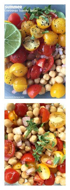 Summer Garbanzo Tomato Salad | ReluctantEntertainer.com