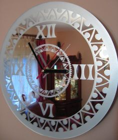Etched Mirror, Diy Mirror, Sand Glass, Glass Candle, Glass Painting Patterns, Glass Art Design, Sandblasted Glass, Glass Engraving, Diy Clock