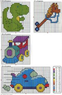 Cross Stitch- Website is not in English, but charts look very easy to follow.