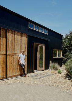 Modern Barn House, Modern Shed, Industrial Sheds, Steel Sheds, House Cladding, Shed Design, House Design, Phillips Island, Barn Renovation