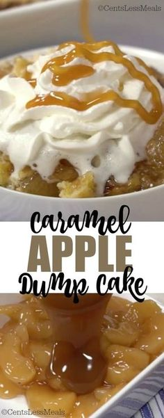 This caramel apple dump cake is a wonderfully sweet, moist and crumbly dessert that you will love to make and eat! If you've used an apple dump cake recipe with yellow cake mix before, the extra flavor, sweetness, and creaminess of the caramel sauce in th Caramel Apple Dump Cake, Apple Dump Cakes, Dump Cake Recipes, Caramel Apples, Caramel Dip, Carmel Apple Cupcakes, Apple Sauce Cake, Apple Poke Cake, Poke Cakes