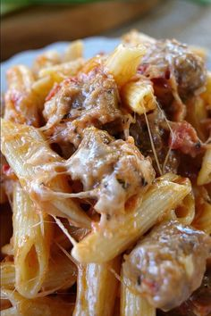As penne a highly consumed pasta, we're glad to write about it. And, today's post is about 20 penne pasta recipes that will rejoice your taste buds. If you have cravings for penne (and other pasta), these are the way to go. Getting their recipes on h Sweet Italian Chicken Sausage Recipe, Italian Sausage Casserole, Ground Italian Sausage Recipes, Crockpot Italian Sausage, Sausage Crockpot Recipes, Cooking Recipes, Casserole Recipes, Penne And Sausage Recipe, Sweet Sausage Recipes