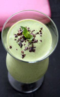 Iced Green Mint Chocolate Superfood Smoothie-Shake It Baby! Delicious Protein Shake Recipes