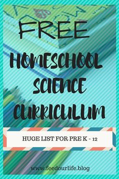 Homeschool for FREE - Home school for FREE! Free Science Curriculum links for grades Pre k – Over 17 free sites to - Homeschool Science Curriculum, Homeschool Kindergarten, Preschool Science, Teaching Science, Science For Kids, Homeschooling Statistics, Catholic Homeschooling, Online Homeschooling, Home School Curriculum