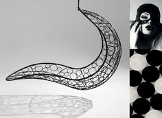 Beautiful hanging chairs and daybeds Circular Pattern, Stirling, Hanging Chair, Tribal Tattoos, Recliner, Studio, Abstract, Artwork, Inspiration