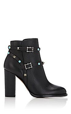 Rockstud Rolling Ankle Boots