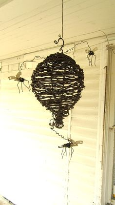 Barbed Wire Wasp Nest With Can Openers Wasps by thedustyraven on Etsy