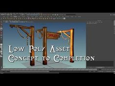 Basic Low Poly Asset - Concept to Completion - YouTube