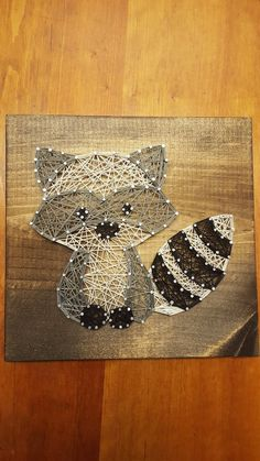 Discover recipes, home ideas, style inspiration and other ideas to try. Diy Crafts To Do, Diy Arts And Crafts, Yarn Crafts, Resin Crafts, Raccoon Craft, Racoon, Hilograma Ideas, String Art Patterns, Doily Patterns