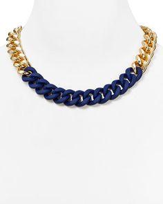 "Abs by Allen Schwartz Wrapped Chain Necklace, 18"""