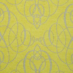 ANICHINI Fabrics | Mozart Citrine/Neutral Residential Fabric - a green double-faced chenille fabric