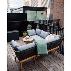 Nyhet 2019 / Loungesofa – høyre - Balkongbenker - Balcony Living Outdoor Sectional, Sectional Sofa, Lounge, Outdoor Furniture, Outdoor Decor, Exterior, Garden, Home Decor, Pictures