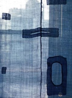 Serene Indigo Dyeing and Patchwork on Japanese Asa Cloth Bleu Indigo, Mood Indigo, Indigo Dye, Motifs Textiles, Textile Patterns, Textile Texture, Textile Art, Boro, Shibori