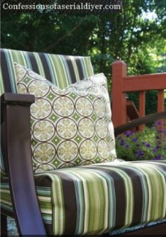 Get rid of the old cushions and revamp them with DIY covers.