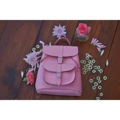 Pink Leather Baby Rucksack 'Bubble' by Grafea www.grafea.co.uk