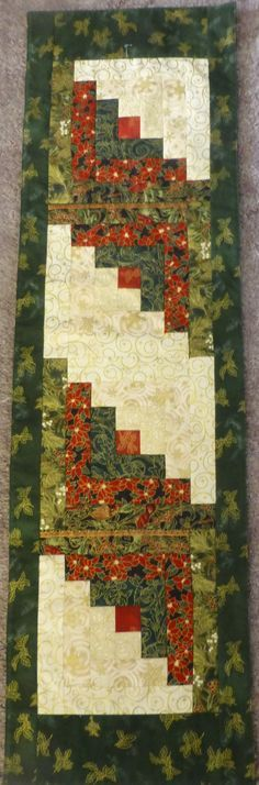 Christmas Holiday Quilted Table Runner Home by SuesCreatingCottage https://www.etsy.com/shop/suescreatingcottage