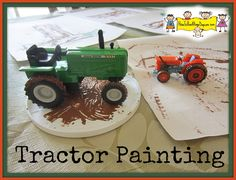 Tractor Painting the Letter T tractor themed kids books Farm Activities, Painting Activities, Preschool Themes, Preschool Crafts, Crafts For Kids, Preschool Painting, Farm Games, Preschool Lessons, Preschool Classroom