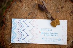 Pin for Later: How to Host a Noncheesy Hunger Games Wedding Watercolor Arrow Invitations Incorporate arrows subtly in your paper design to give your invites a hint of Hunger Games.