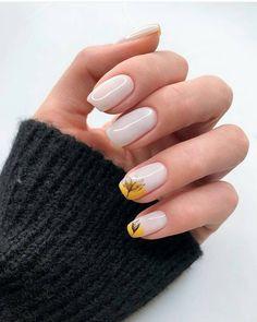 Nail trends Impressive and unique nail polish trends 2019 designs Minimalist Nails, Spring Nails, Summer Nails, Hair And Nails, My Nails, Gel Nagel Design, Nagellack Trends, Trendy Nail Art, Acrylic Nail Designs