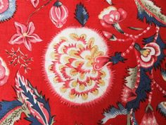 Red-Dutch-Heritage-Chintz-Quilting-Cotton-fabric-44-wide-Per-FQ-DHER5000