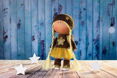 Doll Nicole. Tilda doll. Textile doll. Soft toy.  Сollection La Petite. Сloth doll. Rag doll. Interior doll. Christmas gift by OwlsUa on Etsy