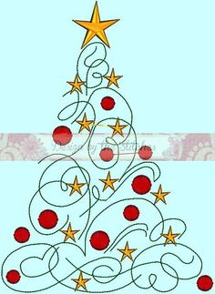 Good Photographs Embroidery Designs pattern Ideas Christmas Tree Ornamnts Stars Christmas Holiday Modern Christmas Tree Embroidery Design Pattern 3 h Noel Christmas, Modern Christmas, Christmas Ornaments, Christmas Design, Christmas Tree Clipart, Christmas Doodles, Christmas Christmas, Handmade Christmas, Christmas Projects