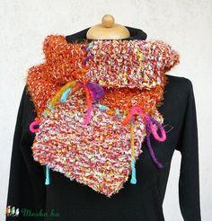 """ Őszi levél"" sál, négyzetekből (kepibag) - Meska.hu Knitting, Women, Fashion, Moda, Tricot, Fashion Styles, Breien, Stricken, Weaving"