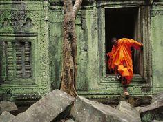Angkor Wat Temple Doorway.