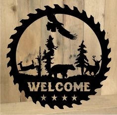 Click to purchase this country sign from MetalDesignWorx.com | Metal Design Worx Works