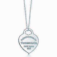 Pendentif Plaque Cœur Return to Tiffany™ en argent 925millièmes. Medium.