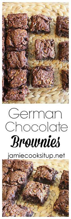 German Chocolate Brownies Jamie Cooks It Up!