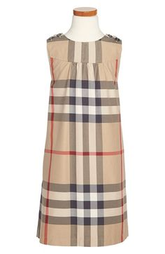 Burberry Check Print Dress (Little Girls & Big Girls) available at #Nordstrom