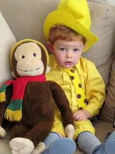 curious george and the man in the yellow hat...no tutorial, just the picture idea