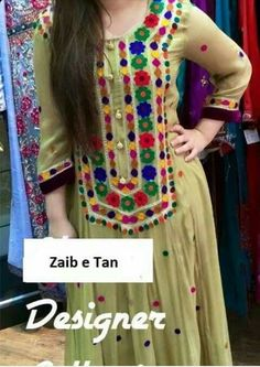 Nyc traditional dress Pakistani Formal Dresses, Pakistani Dress Design, Indian Dresses, Balochi Dress, Salwar Dress, Kurti Skirt, Anarkali, Embroidery Neck Designs, Embroidery Suits