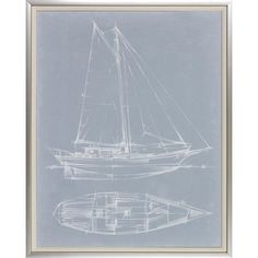 W. King Ambler, Inc 'Yacht Sketches' by Ethan Harper Framed Painting Print