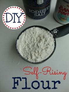 // // Let's just say you're in your kitchen and you're starting to make a recipe that calls for Self-Rising Flour. You go to the pantry and…...What?  Uh oh!  You forgot to put in on your grocery...