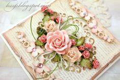Klaudia/Kszp: Różana kartka