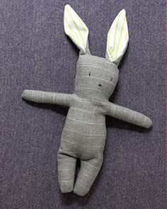 See the Menswear Bunny in our Recycled Crafts gallery.use a dad's/ grandad's suit who passed away