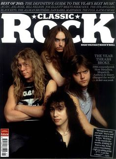 Metallica on the cover of Classic Rock Magazine January 2012