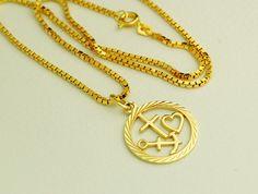 Massiver LIEBE GLAUBE HOFFNUNG Anhänger mit von GoldenShop24 Gold Necklace, Pendant Necklace, Etsy, Jewelry, Gold Jewellery, Faith, Gold Pendant Necklace, Jewlery, Jewerly