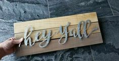 Hey Y'all Welcome Sign Wood Metal Farmhouse Rustic wall home decor decoration #plaques #signs (ebay link) Rustic Walls, Wood And Metal, Rustic Farmhouse, Wood Signs, Decoration, Link, Ebay, Home Decor, Homemade Home Decor