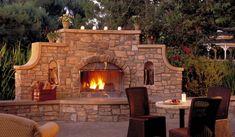 3 Nurturing Tips: Outdoor Fireplace Design stone fireplace update.Fireplace Decorations Tips. Outside Fireplace, Outdoor Fireplace Designs, Backyard Fireplace, Faux Fireplace, Outdoor Fireplaces, Fireplace Ideas, Stone Fireplaces, Fireplace Cover, Country Fireplace