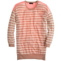 J.Crew Merino colorblock stripe sweater by None, via Polyvore