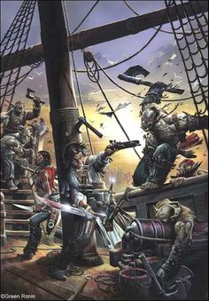 Wayne Reynolds Artworks | Pirates Guide to Freeport